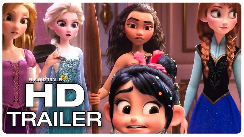 WRECK IT RALPH 2 Disney Princesses Frozen Moana Trailer (NEW 2018) Disney Animated Movie HD