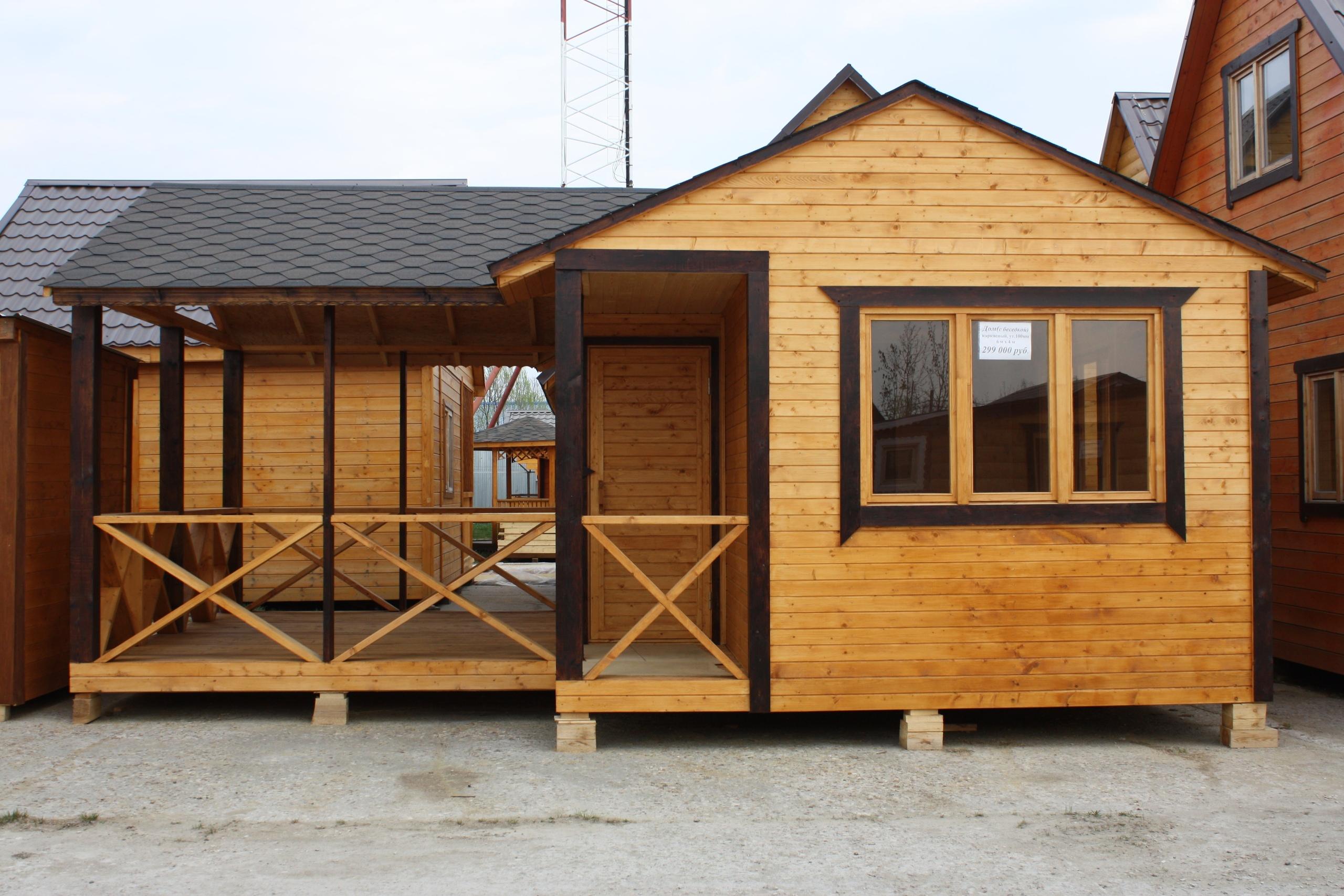 Дачные домики и каркасно-щитовые дома