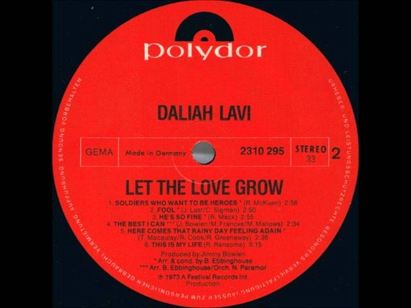 Daliah Lavi - Let The Love Grow - Fool