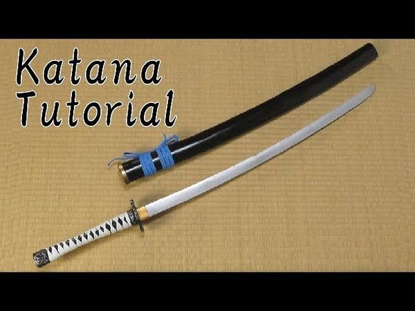 Katana tutorial Samurai sword How to make props