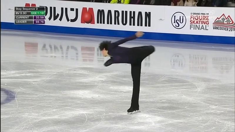 [NBC] 차준환 FS - 2018 Grand Prix Final