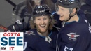 GOTTA SEE IT: Jets' Kyle Connor Scores First Career Hat Trick Vs. Predators