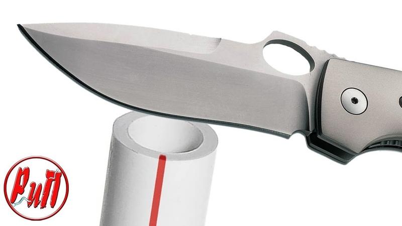 Бритвенно острый инструмент при помощи пластиковых труб