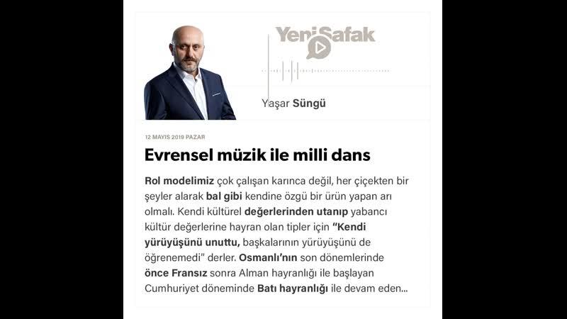Yaşar Süngü - Evrensel müzik ile milli dans - 12.05.2019