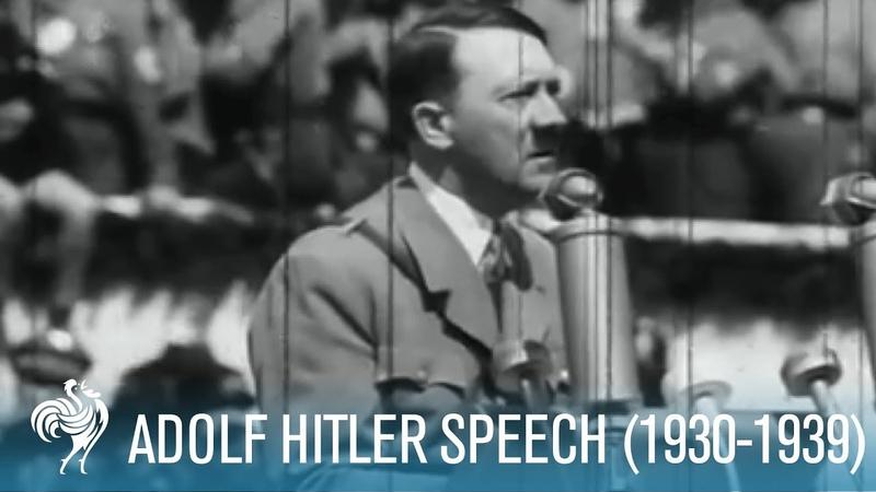 Adolf Hitler Speaking To Mass Crowds (1930-1939) | British Pathé
