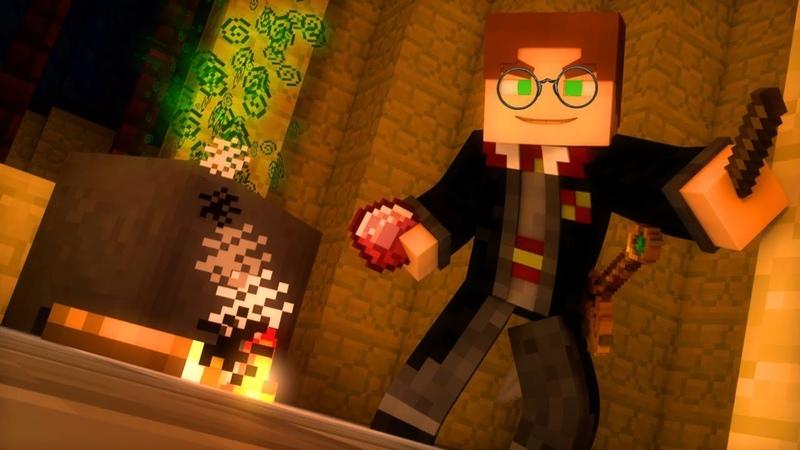 Minecraft. СЕТЕВАЯ ИГРА. 64. Гарри Поттер и SkyWars
