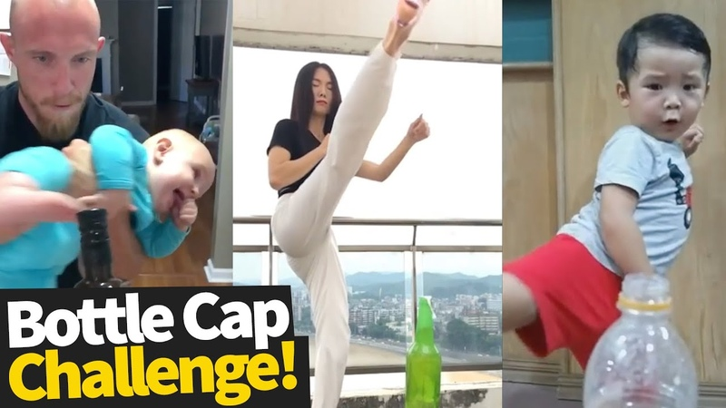 Bottle Cap Challenge Compilation 2019 - Who did it best?