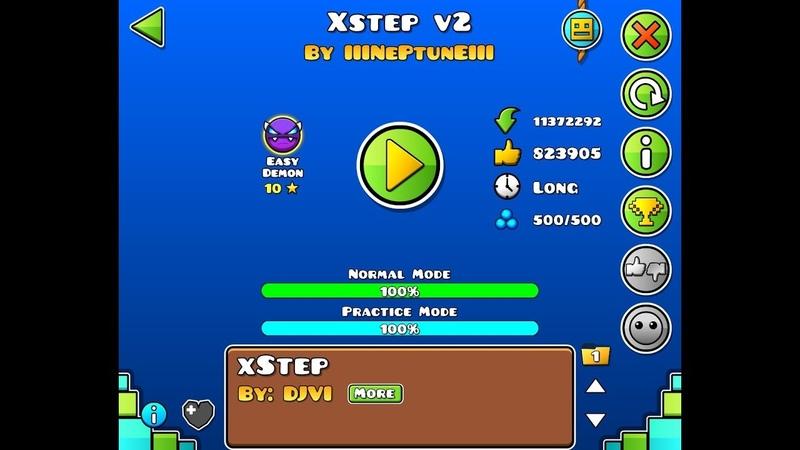 Xstep v2 100% by Neptune geometry dash