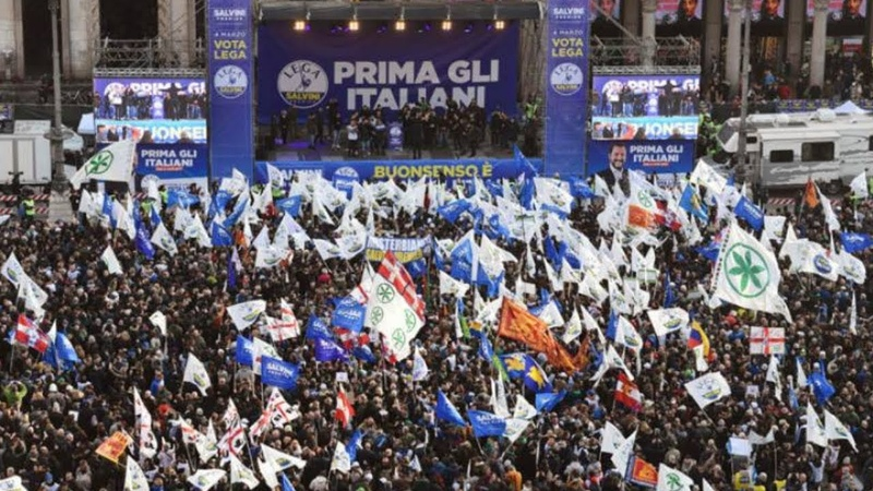 SHOCK POLL Italy's Nationalist Populists SURGING to STORM Brussels