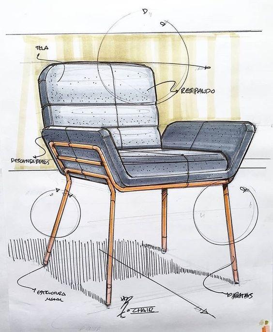 Скетчи мебели