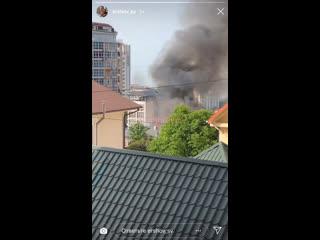 Пожар на улице Кубанская 13, 7 мая