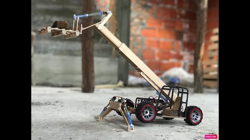 DIY Telescopic handler. Cardboard toy