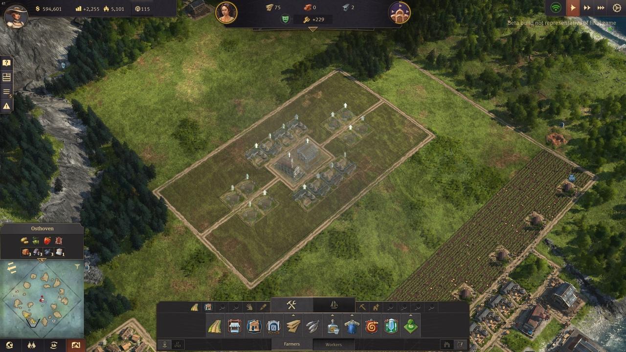 Anno 1800 поля для ферм