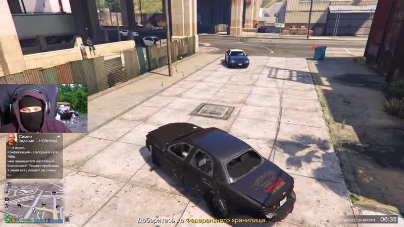 [FRESH] GTA 5 COPS ROBBERS - Включилась ВЕБКА, но я успел запрыгнуть в такси и начал валить от КОПОВ.