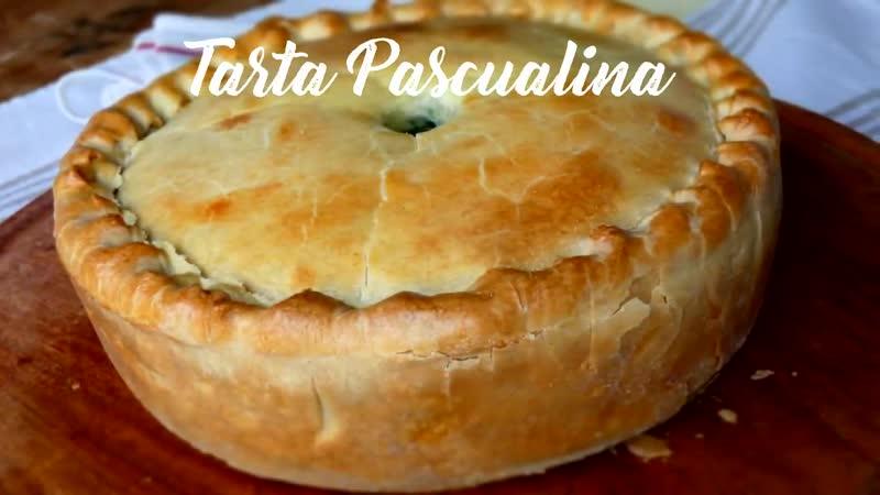TARTA PASCUALINA con Masa Casera Tradicional Rellena con Espinaca y Ricota