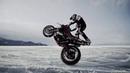 На Мотоцикле по Байкалу Supermoto на Льду