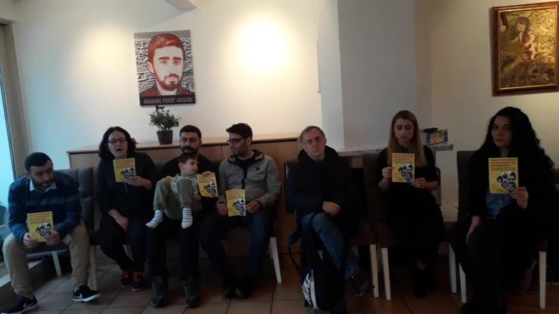 Almanya HFG'de Halkın Avukatları İçin Destek Açlık Grevi Yapıldı