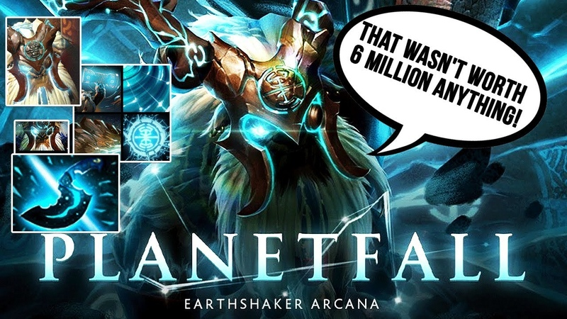EARTHSHAKER ARCANA PLANETFALL FULL PREVIEW TI9 BATTLE PASS COMPENDIUM 2019 EPIC VOICE LINES Dota 2