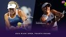 Anett Kontaveit vs. Bianca Andreescu | 2019 Miami Open Fourth Round | WTA Highlights