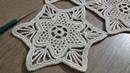 Tığişi Örgü Yıldız Motifli Dantel Yapımı Runner Masa Örtüsü Sehpa Örtüsü Crochetdoily