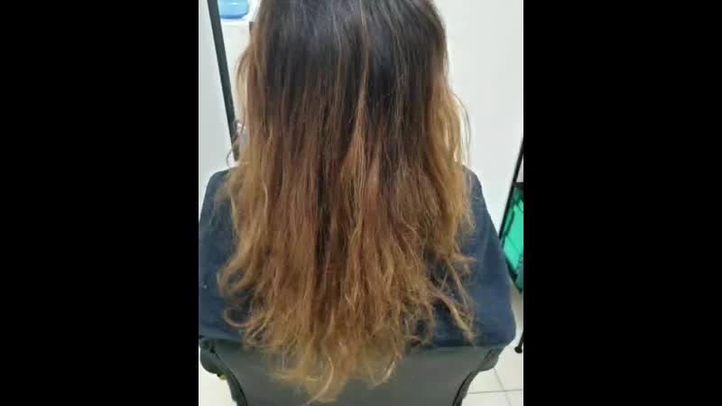 Восстановление волос с комплексом процедуры NANOBOTOX 💣💥! Без предварительного окрашивания☝️для красотки мастера @juliacherevano