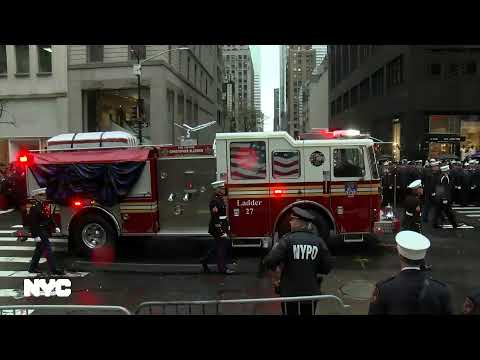 Funeral Service For U.S Marine Corps Staff Sergeant FDNY Firefighter Christopher Slutman