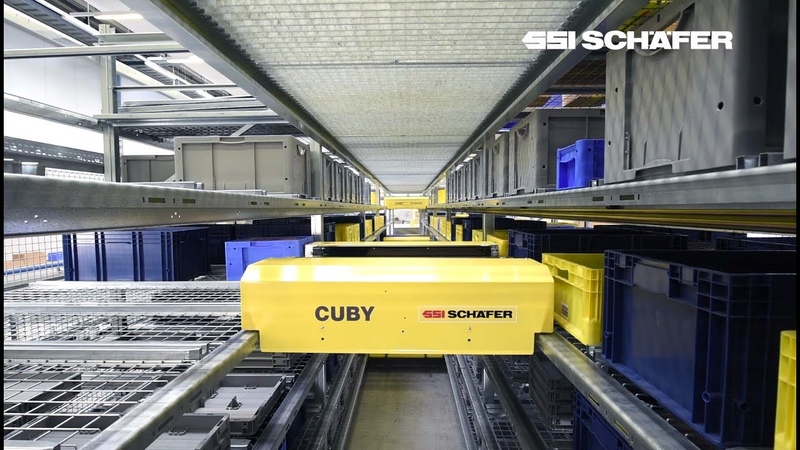 Cuby: Flexible one-level shuttle system for bins and cartons