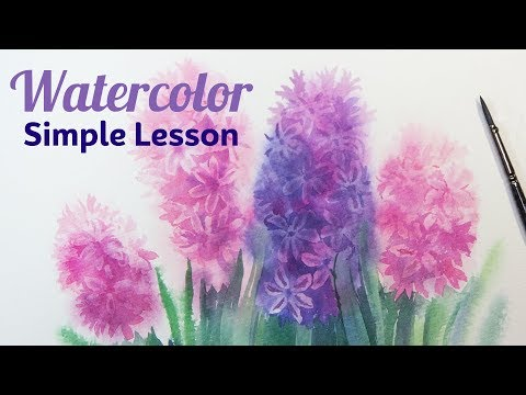 How to Draw a Delicate Hyacinth Watercolor Simple Lesson for Beginners Real Time Video