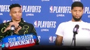 Russell Westbrook & Paul George Postgame Interview | Game 1 | Blazers vs Thunder | April 14 , 2019