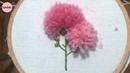 프랑스자수 울사로 만드는 카네이션 꽃 자수 Carnation clove gillyflower embroidery flower making wool yarn