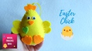 Easy Easter Chick Felt Ornament DIY Tutorial | Easter Crafts.