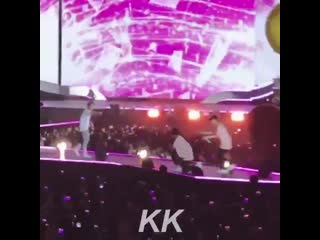 Dokyeom tried to hold the big inflatable ball