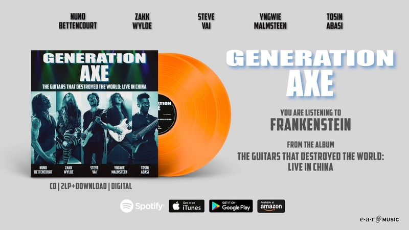 Generation Axe Frankenstein (Live in China) Official Song Stream - Album out June 28th