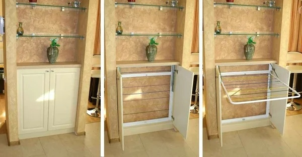 Обустройство: идеи для балкона с фото: компактная сушилка, цветник, откидной стол