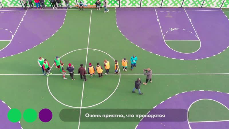 Футбольная площадка 18 й школы Аэросъемка с квадрокоптера в Саранске Мордовии