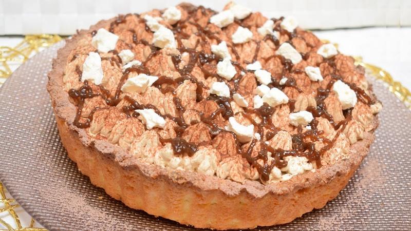 CROSTATA CON CREMA AL CAFFE YOGURT dolci facili e veloci per la festa del papà