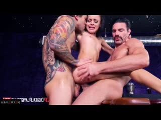 Holly hendrix & charles dera & small hands [ double penetration / ass, cum on face, bukkake, tattoo, riding dick, intimate