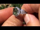 Intense Green 4 10 Carat Tsavorite Diamond Cocktail Ring Estate Liquidation