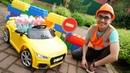 Familia de Peppa Pig arregla su coche Play Time Vídeos para niños