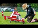 STUNNING AMAZING HUGE RC K MAX 1200 COAXIAL SCALE MODEL TURBINE HELICOPTER FLIGHT DEMONSTRATION