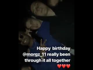 Hero tonight celebrating a friend's birthday!