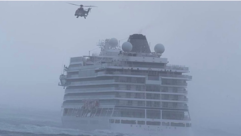 Viking Sky engine failure on the 23-03-2019 along the coast of Norway