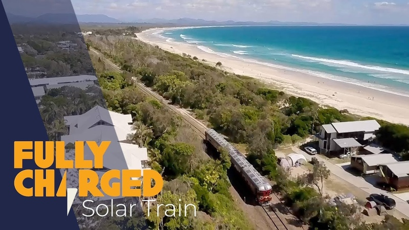 World's First Solar Train - Byron Bay Railroad Company | Fully Charged