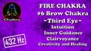 FIRE CHAKRA - 6 Brow/Ajna/Third Eye Chakra – Intuition/Inner Guidance/Clairvoyance/Creativity