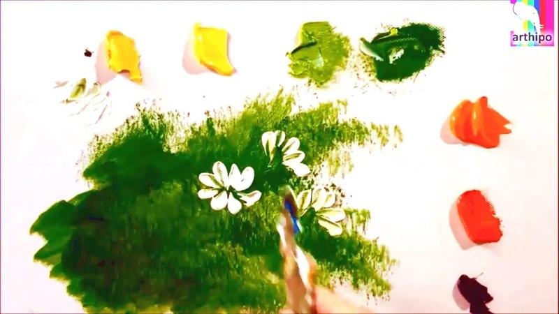 Akrilik Boya Teknikleri, Akrilik Boya Çiçek Çizimi Resim Nasıl Yapılır Akrilik Resim