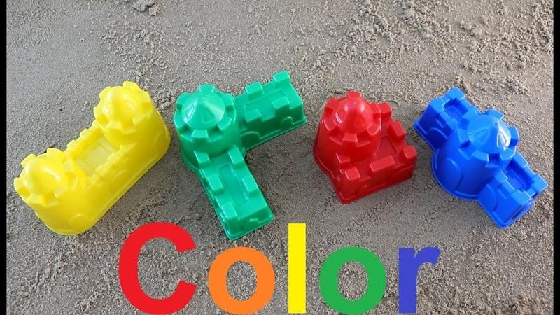 Learn Colors for Children учим цвета летим башни из песка