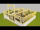 ⚫ КАК построить ДОМ Каркасный Дом СВОИМИ РУКАМИ.