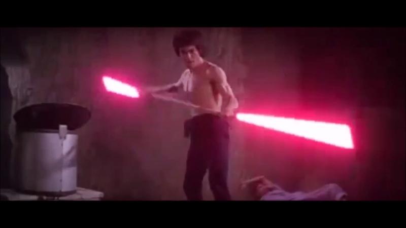 Bruce Lee Lightsabers Scene [龍爭虎鬥]李小龍耍光劍 棍型 二刀流型 雙截棍型