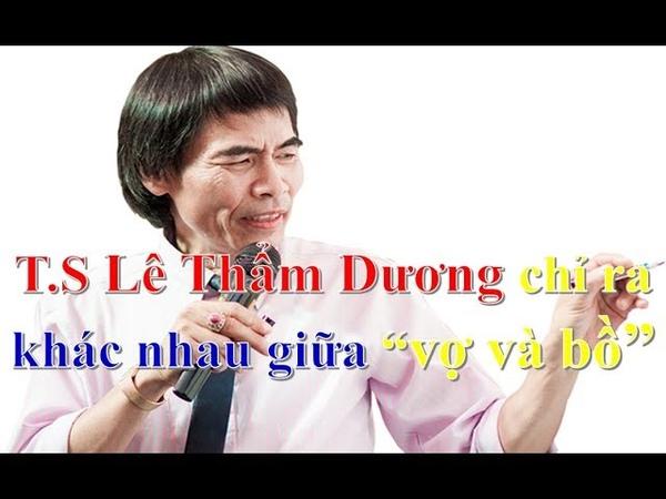 Tiến sĩ Lê Thẩm Dương chỉ ra sự khác nhau giữa vợ và bồ nhí ❤ Việt Nam Channel ❤