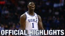 Zion Williamson Official Highlights   Duke Forward
